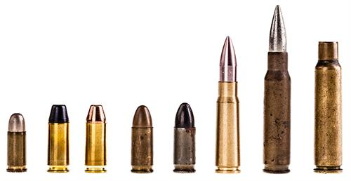 Rifles Different Type Bullets