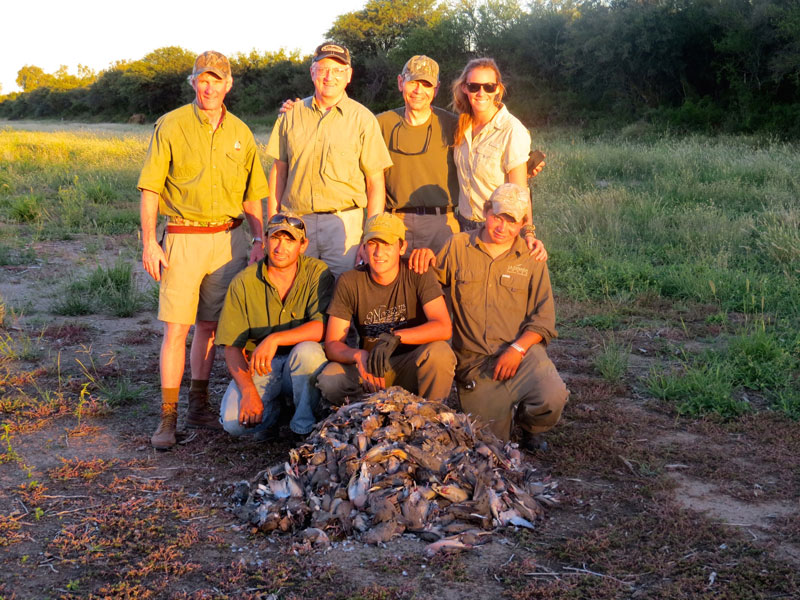 Outfitter group after dove hunt