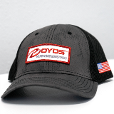 BOYDS HAT - CHARCOAL TONAL BLACK MESH