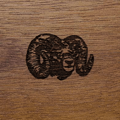 Gunstock Engraving Ram Head