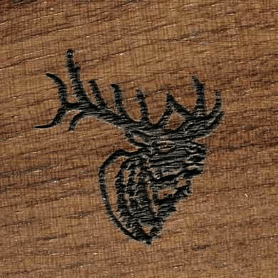 Gunstock Engraving Elk Head