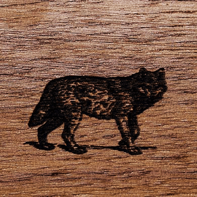 Gunstock Engraving Wolf